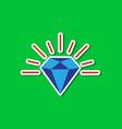 paper sticker on stylish background diamond vector image