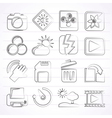 Photography and Camera Function Icons vector image
