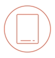 Touch screen tablet line icon vector image