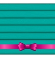 Pink Ribbon and Bow on Wooden Background for vector image vector image