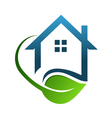 Eco house green vector image vector image