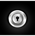Metallic lock icon vector image