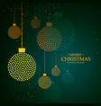 artistic creative hanging christmas balls made vector image