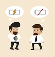 Businessman suggest another man to take a rest vector image vector image