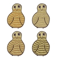Set of aumusing stylized owls vector image vector image