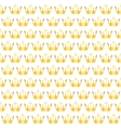 golden crowns pattern vector image