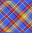 blue madras diagonal fabric texture pixeled vector image