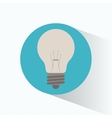 clean energy bulb white shadow vector image
