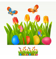 Easter border vector image