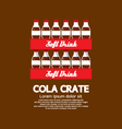 Flat Design Cola Crate Stack vector image