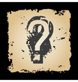 old retro tattered paper with question mark eps10 vector image