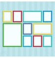 Photo frame on wall in a flat style vector image