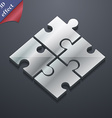 Puzzle piece icon symbol 3D style Trendy modern vector image