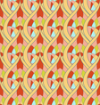 Seamless abstract ornament pattern vector image