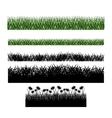 Grass plant silhouette design vector image