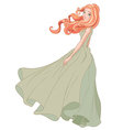 Girl in the Wind vector image vector image