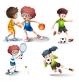 Kids engaging in different sports vector image