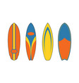 Surfboard shape vector image