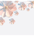 Abstract polygonal flower decoration vector
