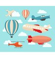Set of colorful flat air transports vector image