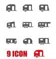grey trailer icon set vector image