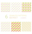 abstract summer seamless patterns vector image