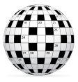 crossword vector image