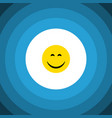 isolated joy flat icon smile element can vector image