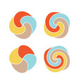 lollipops colorful logo set candy simple vector image
