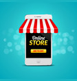 Mobile Online Store concept business design vector image