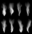 set smoke background fire smooth wallpaper concept vector image