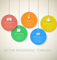 Web Infographic Round Badges Template Layout With vector image