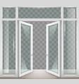 white open doors vector image