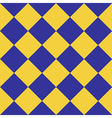 Yellow Blue Chess Board Diamond Background vector image