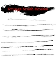 Black ink dry brush strokes vector image