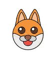 cute fox drawing animal vector image