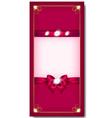 Greeting card pink vector image