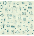 On vacation summer sketch seamless pattern vector image