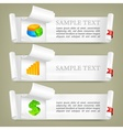 Paper scroll with business vector image vector image