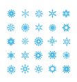 008 Christmas Snow Flakes 004 vector image