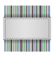 elegant striped card vector image