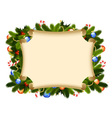 christmas card border vector image