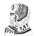 Hand drawn girls giant - art vector image