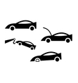 icon of cars vector image