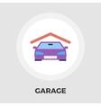 Garage flat icon vector image