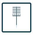 Icon of football light mast vector image