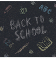 back to school on asphalt vector image vector image