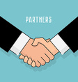 flat style Handshake businessman agreement vector image