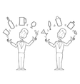 Juggling barman vector image