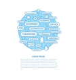 Planet business tags vector image